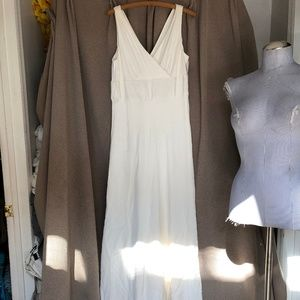 J. crew Bridal cream faux wrap top maxi dress 14